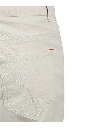 Damat Slim Fit Dokulu Pantolon Taş